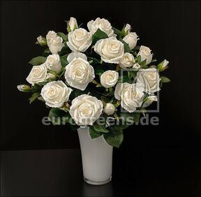 Artificial bouquet Rose cream 50 cm