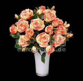 Artificial bouquet Rose pink-apricot 50 cm