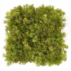 Artificial brown moss panel - 25x25 cm