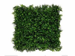 Artificial dark green deciduous panel Fern - 50x50 cm