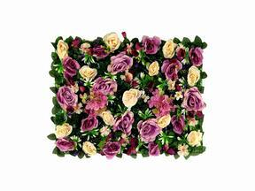 Artificial flower panel Rose and Hydrangea - 40x60 cm