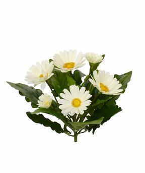Artificial Gerbera plant cream 30 cm
