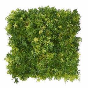Artificial light-green moss panel - 25x25 cm