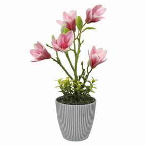 Artificial Magnolia in a flowerpot 21 cm