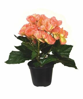 Artificial plant Begonia orange 20 cm