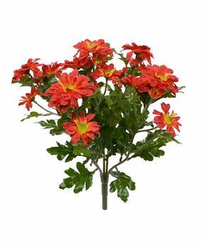 Artificial plant Chrysanthemum orange 35 cm