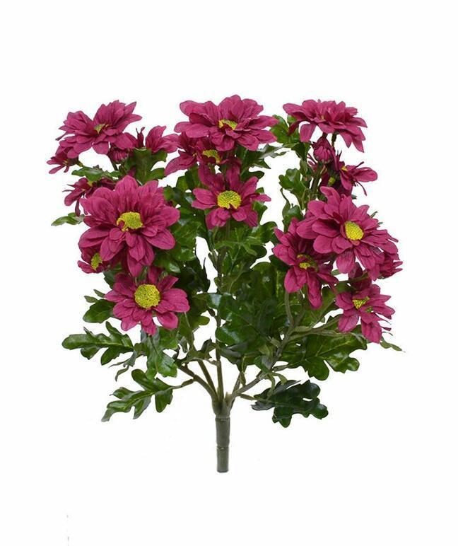 Artificial plant Red-burgundy chrysanthemum 35 cm
